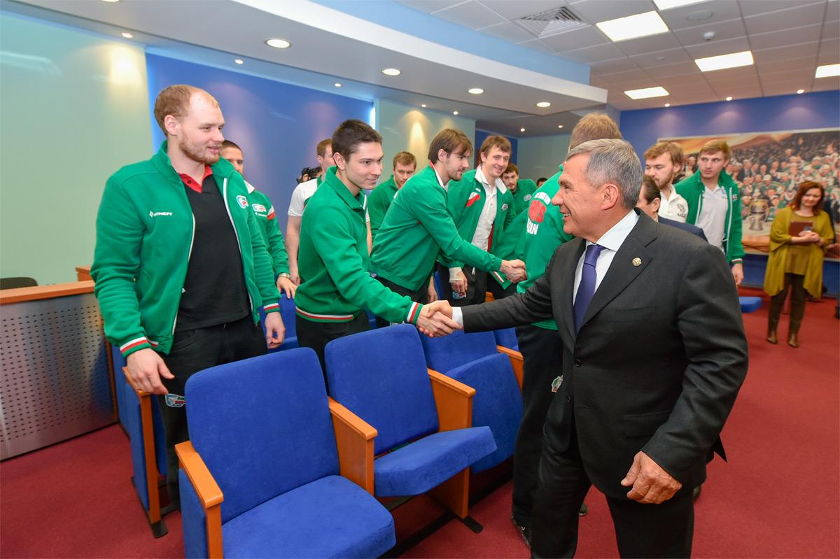 Игроки «Ак Барса» на приеме у президента РТ Рустама Минниханова