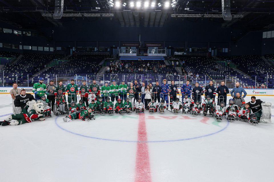 Команды TANECO Кубка чемпионов приняли участие в благотворительном матче «Хоккей каждому». 20.08.2021